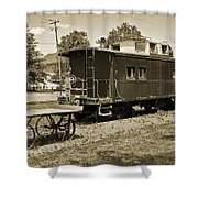 Railroad Car And Wagon Shower Curtain