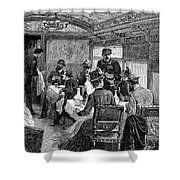 Railroad: Dining Car, 1880 Shower Curtain by Granger