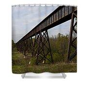 Railroad High Bridge 3 Shower Curtain