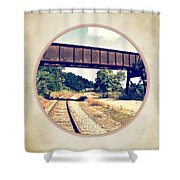 Railroad Tracks And Trestle Shower Curtain