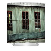 Railroad Woodshed Shower Curtain