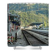 Railway Station West Interlaken Switzerland Shower Curtain