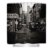 Rain - Pell Street - New York City Shower Curtain