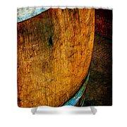 Rain Barrel Shower Curtain by Judi Bagwell