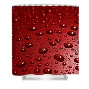 Rain Drops Bloody Red  Shower Curtain