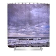 Rain Storm At The Sea Shower Curtain