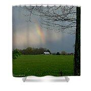 Rainbow After The Rain Shower Curtain