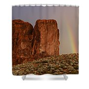 Rainbow And Red Rock Shower Curtain