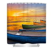 Rainbow Armada Shower Curtain