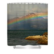 Rainbow At The End Of The World  Shower Curtain