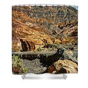Rainbow Canyon Death Valley Shower Curtain