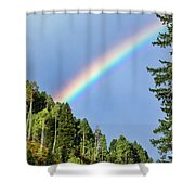 Rainbow Closeup Shower Curtain