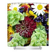Rainbow Floral Display Shower Curtain