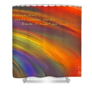 Rainbow Haiku Shower Curtain