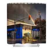 Rainbow On Bank Shower Curtain