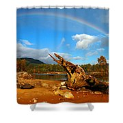 Rainbow Over Affric Shower Curtain