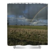 Rainbow Over Fields At Kangaroo Island Shower Curtain