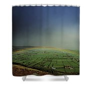 Rainbow Over Fields In Slieve Gullion Shower Curtain
