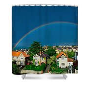 Rainbow Over Housing, Monkstown, Co Shower Curtain