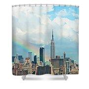 Rainbow Over Manhattan Shower Curtain