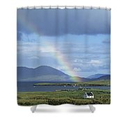 Rainbow Over Mountains, Ballinskelligs Shower Curtain