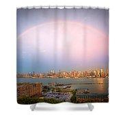 Rainbow Over New York City II Shower Curtain
