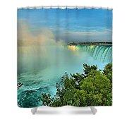 Rainbow Over Niagara Shower Curtain