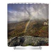 Rainbow Over Rough Ridge - Nc Autumn Scene Shower Curtain