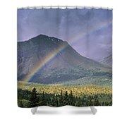 Rainbow Over Willmore Wilderness Park Shower Curtain