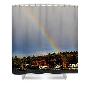 Rainbow Over Winnepesaukee Shower Curtain