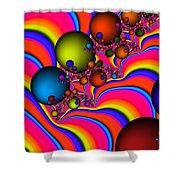 Rainbow Universe Shower Curtain