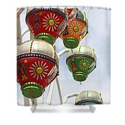 Rainbowheel Shower Curtain