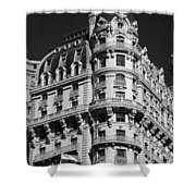 Rainbows And Architecture In Black And White Shower Curtain