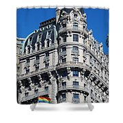Rainbows And Architecture Shower Curtain