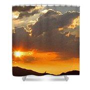 Rainey Sunset Shower Curtain
