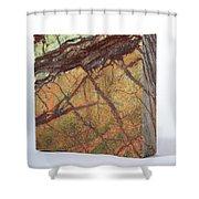 Rainforest Green Marble Shower Curtain
