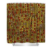 Raining Coins And Juwels Shower Curtain