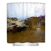 Rainy Day Abstract Shower Curtain