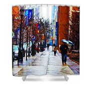 Rainy Day Feeling Shower Curtain by Bill Cannon