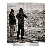 Rainy Day Fishing Shower Curtain