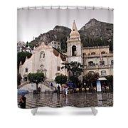 Rainy Day In Taormina Shower Curtain