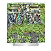 Rainy Day On The Links Shower Curtain