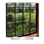 Rainy Day Shower Curtain by Susan Savad