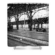 Rainy Departure Shower Curtain