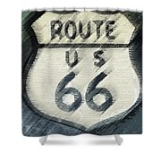 Rainy Night On Route 66 Shower Curtain