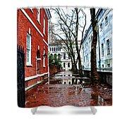 Rainy Philadelphia Alley Shower Curtain by Bill Cannon