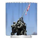 Raise The Flag Shower Curtain