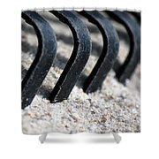 Rake In Sand Shower Curtain