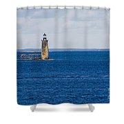 Rams Island Ledge Light Shower Curtain