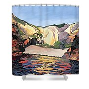 Ramsey Island - Land And Sea No 2 Shower Curtain
